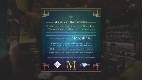 Miami Beach Bar Association Cocktail Reception